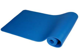 Blue Exercise Mat with Carry Strap – 72 x 24 Inches (10mm) NBR Padded Foam Mat for Yoga, Pilates and Fitness