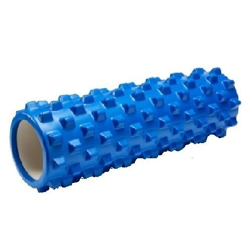 Rumble Foam Roller Trigger Point Release Self Massage Tool (Blue, Hollow Core)
