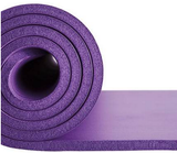 Purple Exercise Mat with Carry Strap – 72 x 24 Inches (10mm) NBR Padded Foam Mat for Yoga, Pilates and Fitness