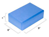 "Yoga Block (Blue) 9""x6""x4"""