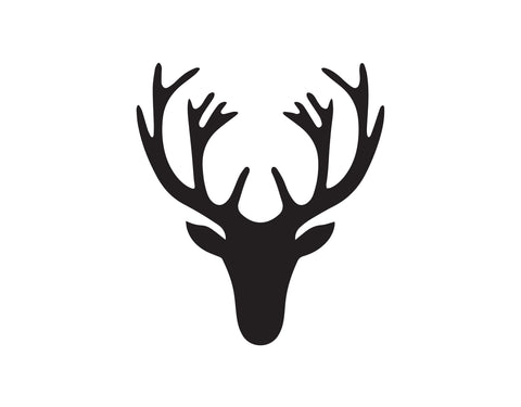 BUCK DEER HEAD WITH ANTLERS DECAL - cartattz1.myshopify.com