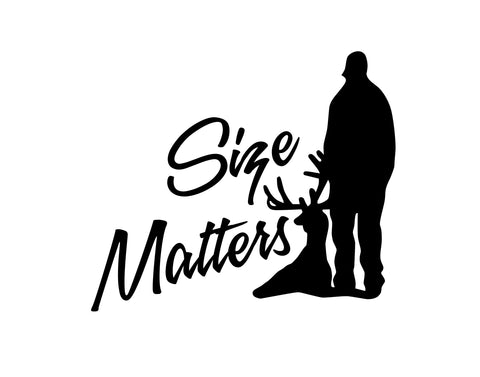 size matters hunting decal