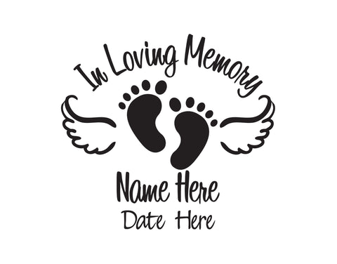 In Loving Memory of Baby Decal - cartattz1.myshopify.com