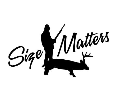 size matters 2 hunting decals