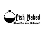 Fish Naked Sticker 3 - cartattz1.myshopify.com