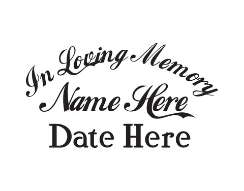 In Memory of Decal Text 7 - cartattz1.myshopify.com