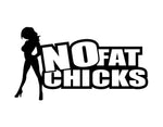 No Fat Chicks Sticker 3 - cartattz1.myshopify.com