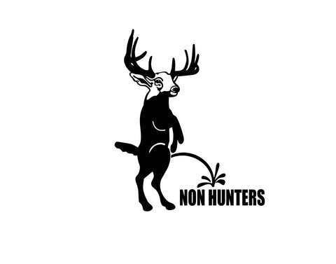 non hunters decal - cartattz1.myshopify.com