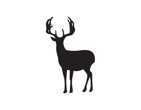 DEER GALLOPING DECAL - cartattz1.myshopify.com