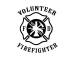 Volunteer Firefighter Decal