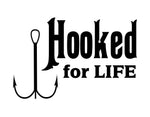 Hooked for Life Sticker