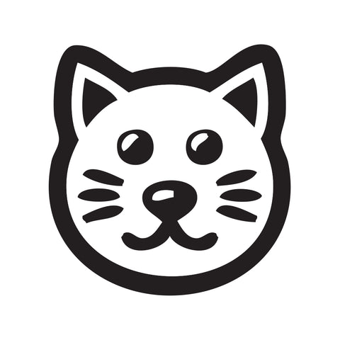 Cat Face Sticker 1 - cartattz1.myshopify.com