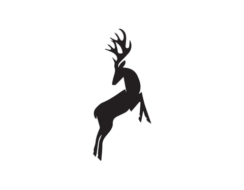 STANDING DEER DECAL - cartattz1.myshopify.com