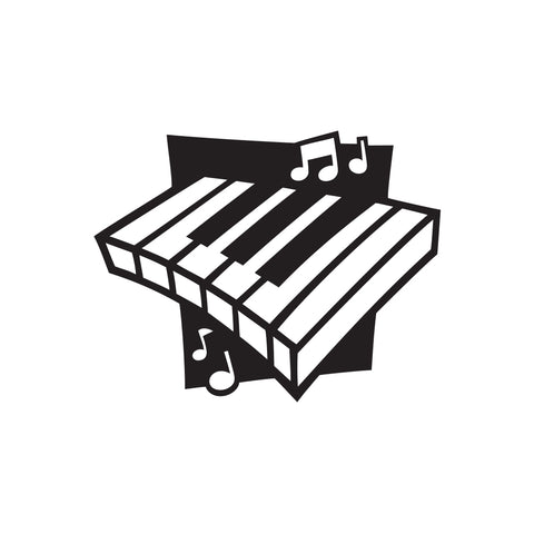 Piano Music Sticker 1 - cartattz1.myshopify.com