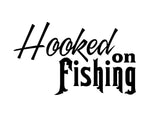 Hooked on Fishng Sticker