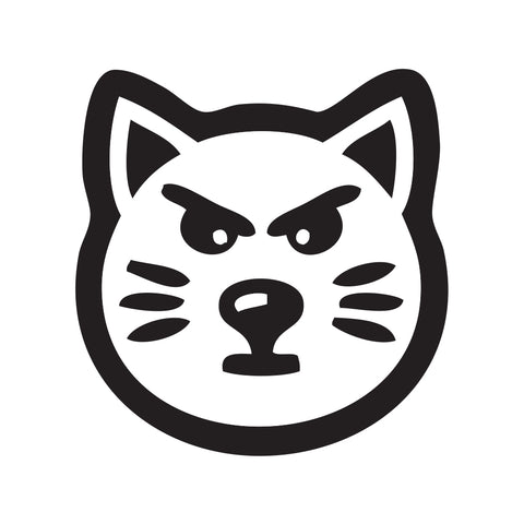 Cat Face Sticker 2 - cartattz1.myshopify.com