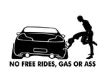 No Free Rides Sticker 1
