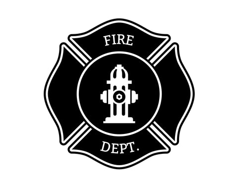 Firefighter Maltese Cross Fire Department Decal