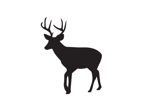 DEER LOOKING DOWN DECAL - cartattz1.myshopify.com