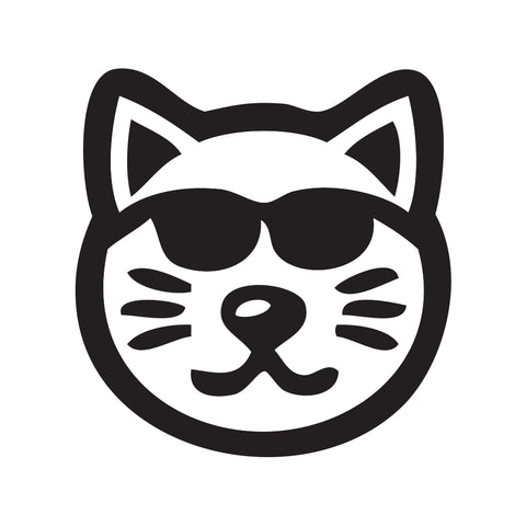 Cat Face Sticker 3 - cartattz1.myshopify.com