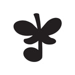 Butterfly Music Sticker 1 - cartattz1.myshopify.com