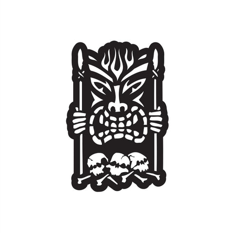 Tiki Guy Sticker 3 - cartattz1.myshopify.com