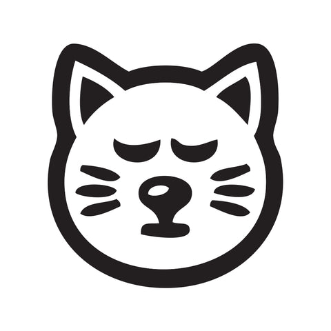 Cat Face Sticker 4 - cartattz1.myshopify.com