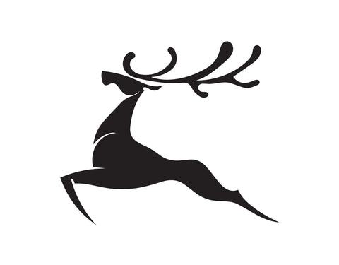 SILHOUETTE DEER WALKING DECAL - cartattz1.myshopify.com