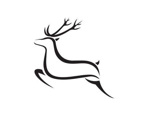 RUNNING DEER OUTLINERUNNING DEER DECAL - cartattz1.myshopify.com