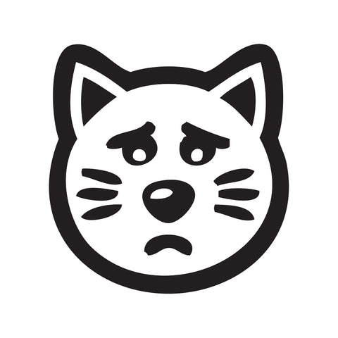 Cat Face Sticker 5 - cartattz1.myshopify.com