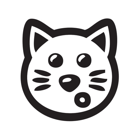 Cat Face Sticker 6 - cartattz1.myshopify.com