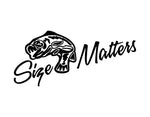 Size Matters Fishing Sticker - cartattz1.myshopify.com