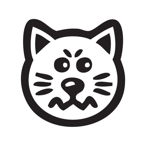 Cat Face Sticker 7 - cartattz1.myshopify.com