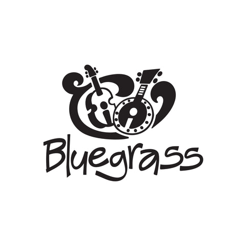 Bluegrass Music Sticker 1 - cartattz1.myshopify.com