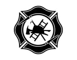 Maltese Cross Firefighter Decal - cartattz1.myshopify.com