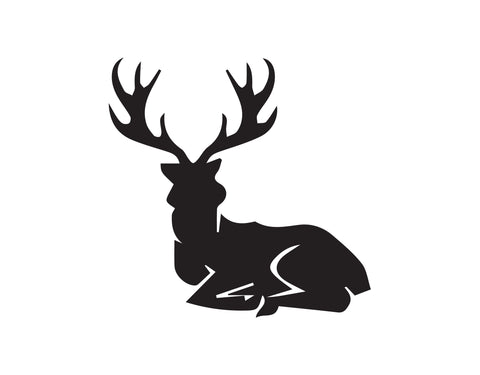DEER LAYING DOWN DECAL - cartattz1.myshopify.com