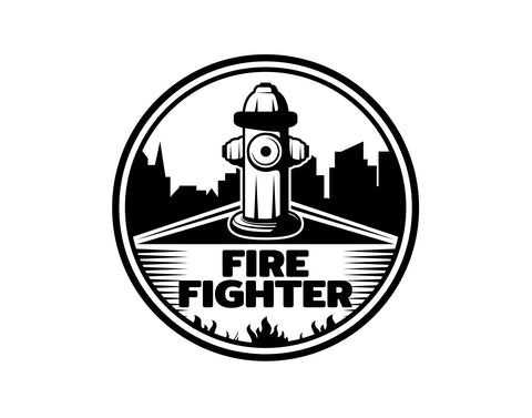 Firefighter Decal 2 - cartattz1.myshopify.com