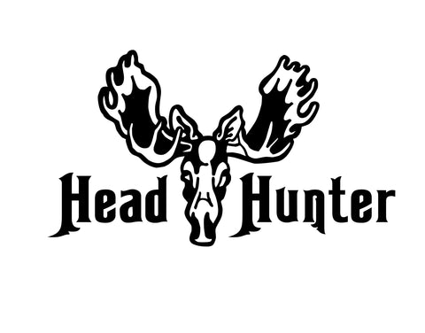 HEAD HUNTER MOOSE DECAL - cartattz1.myshopify.com