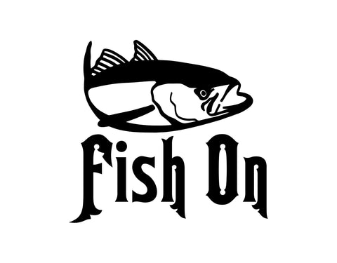 FISH ON DECAL - cartattz1.myshopify.com