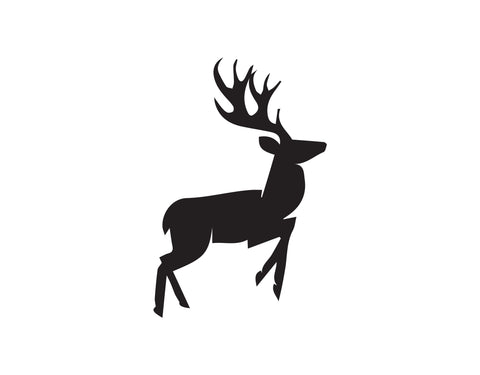 GALLOPING DEER DECAL - cartattz1.myshopify.com