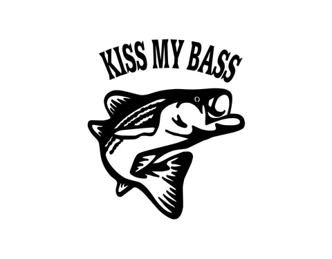 Kiss My Bass Sticker