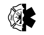 Firefighter Decal With Crossed Axe