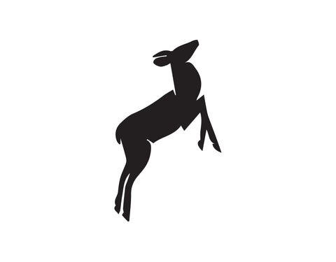 BABY DEER DECAL JUMPING - cartattz1.myshopify.com
