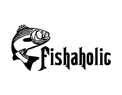 Fishaholic Sticker 1 - cartattz1.myshopify.com