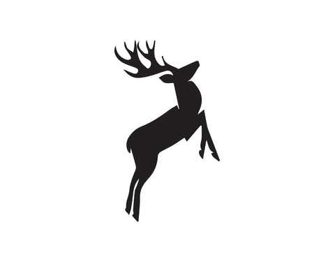 DEER WITH ANTLERS JUMPING DECAL
