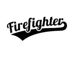 Firefighter Decal Script Text