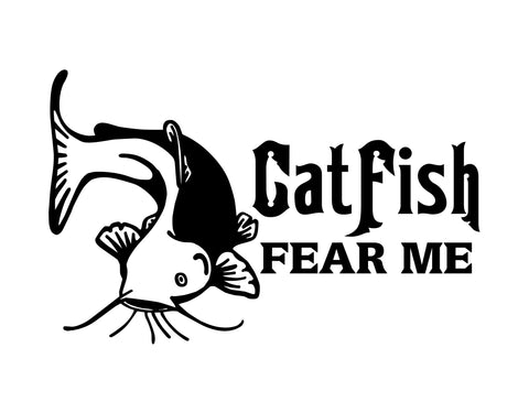 Catfish Fear Me Sticker - cartattz1.myshopify.com