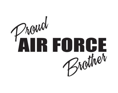 Proud Air Force Brother Sticker - cartattz1.myshopify.com