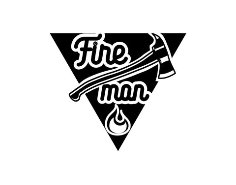 Firemen With Axe Firefighter Decal - cartattz1.myshopify.com