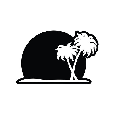 Palm Tree Sticker 1 - cartattz1.myshopify.com